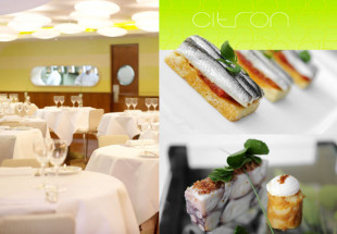 A 5 course dinner with wine at Citron Restaurant