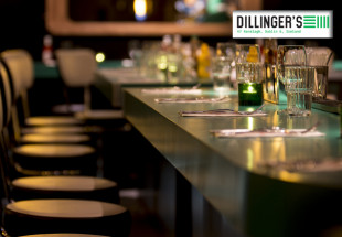 3 course dinner with wine at Dillinger's.