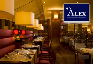 Dinner for 2 with wine at Alex Restaurant