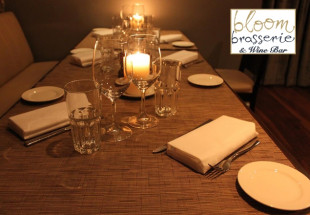 3 course lunch at Bloom Brasserie with wine