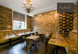 A 3 course dinner with wine at Isabel's