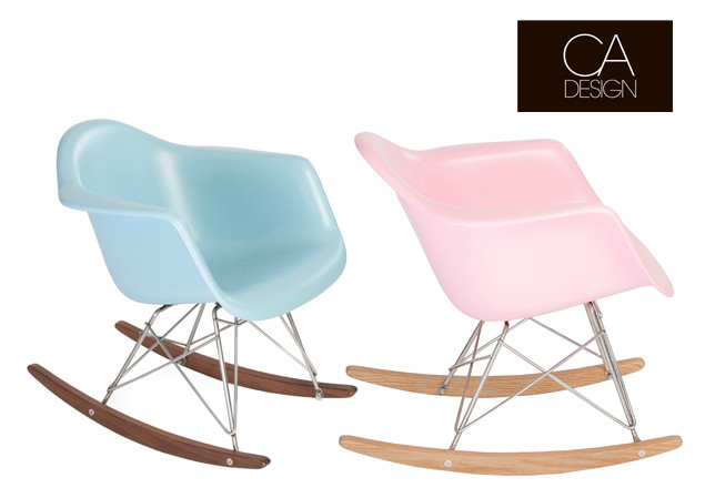baby eames rocking chair by ca design in baby pink baby blue or matt