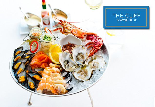 The Cliff Townhouse seafood platter plus wine