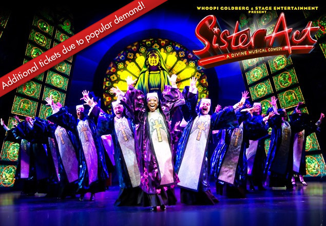 Opening night ticket to Sister Act the Musical