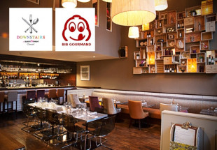 4 course dinner for 2 at Downstairs Restaurant