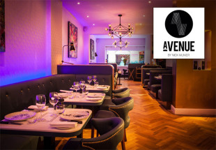 A 3 course dinner with wine at Avenue
