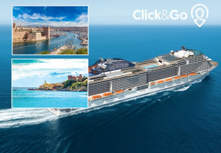 Mediterranean Taster Fly-Cruise with Click & Go