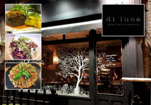 Dinner with wine for 2 people at Di Luca