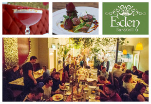 3 courses dinner for 2 at Eden Bar and Grill