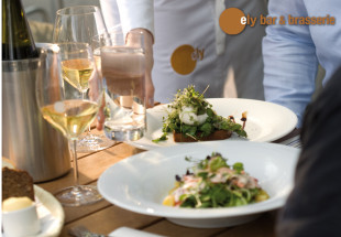 3 course meal for 2 with a bottle of wine at ely