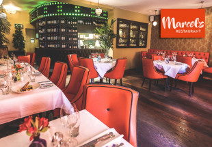 5 course dinner with wine at Marcels