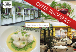 3 course dinner for two with wine at O'Connells