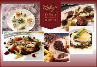3 Course Dinner with wine in Roly's Bistro