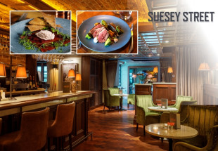 3 course dinner with wine at Suesey St