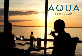 Meal for two at Aqua with a bottle of wine
