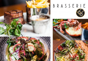 3-course meal with wine in Brasserie 66