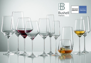 24 Schott Zwiesel glasses from Bushell Interiors
