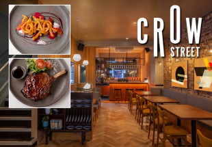 Four course meal with drinks at Crow Street