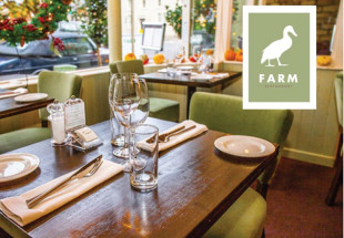 Enjoy Dinner for 2 in Farm Restaurant