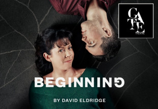 Two tickets to 'Beginning' at The Gate Theatre