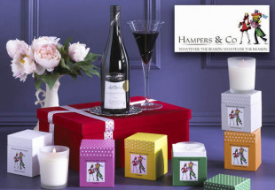 Wine & Candles Gift Box from Hamper & Co.