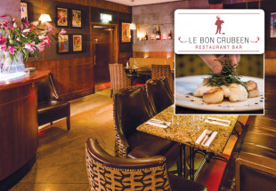 3 course dinner for 2 at Le Bon Crubeen