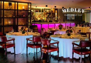 Tasting menu with wines at Medley
