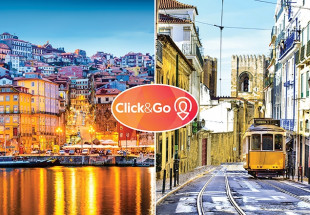 Porto & Lisbon city break for two with Click&Go