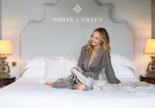 Luxury organic cotton bed set from White & Green