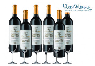 6 bottles of Bordeaux + glasses at WineOnline