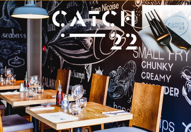 Three course meal for 2 in Catch-22 Dublin