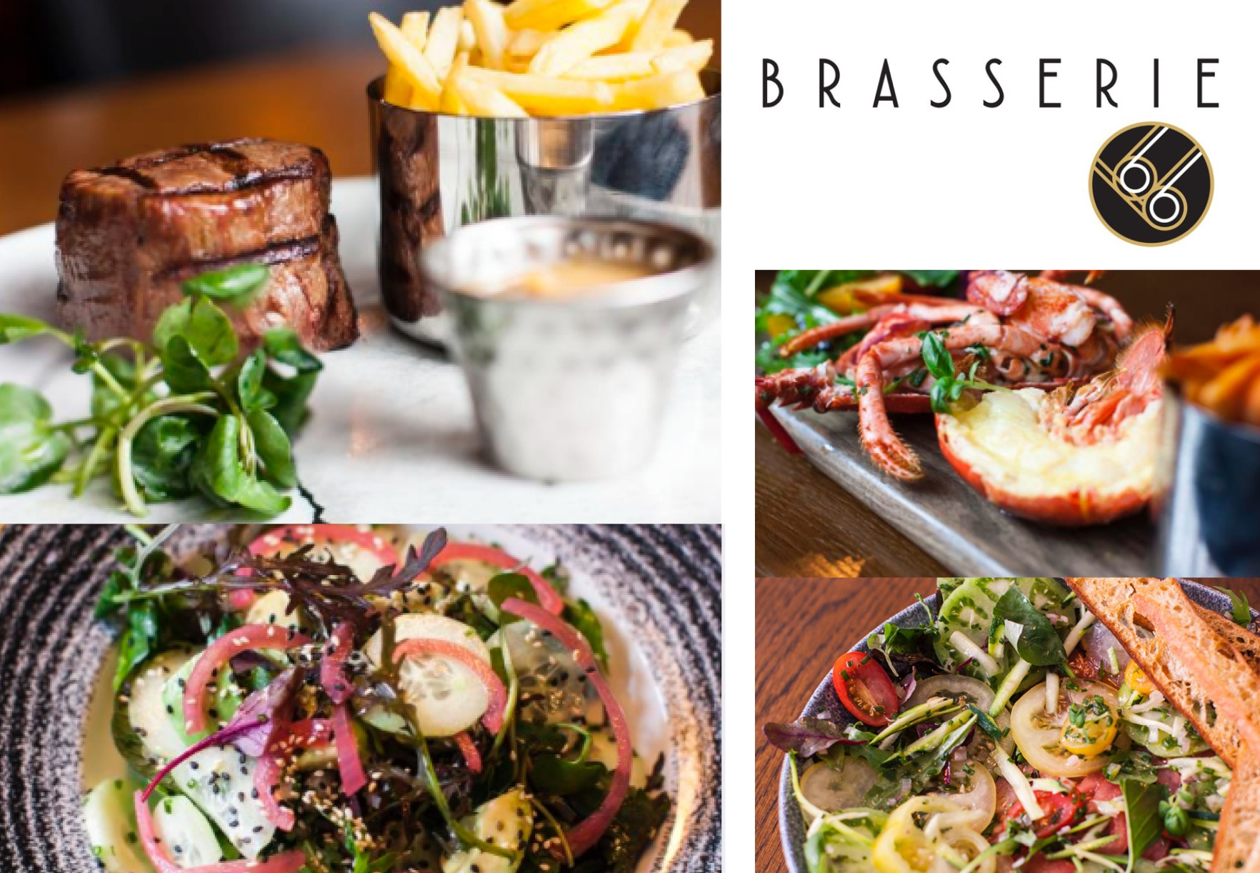 3 Course Meal Wine & Prosecco in Brasserie 66