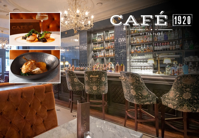 €75 for dinner for 2 in Cafe 1920