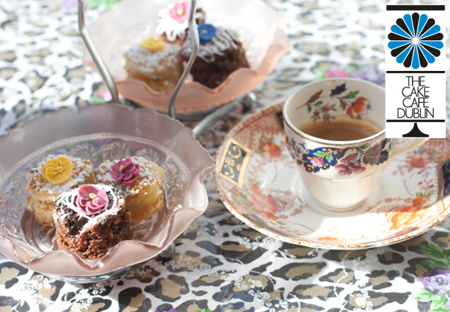 Afternoon tea for 2 in The Cake Café with gifts