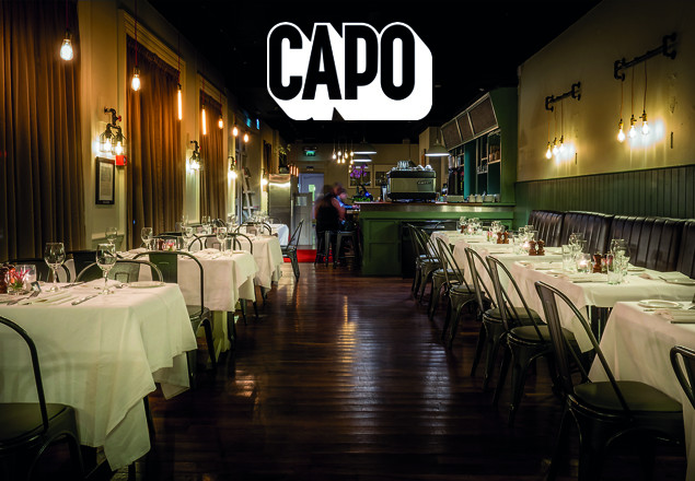 Dinner for two with wine at Capo Bar&Restaurant