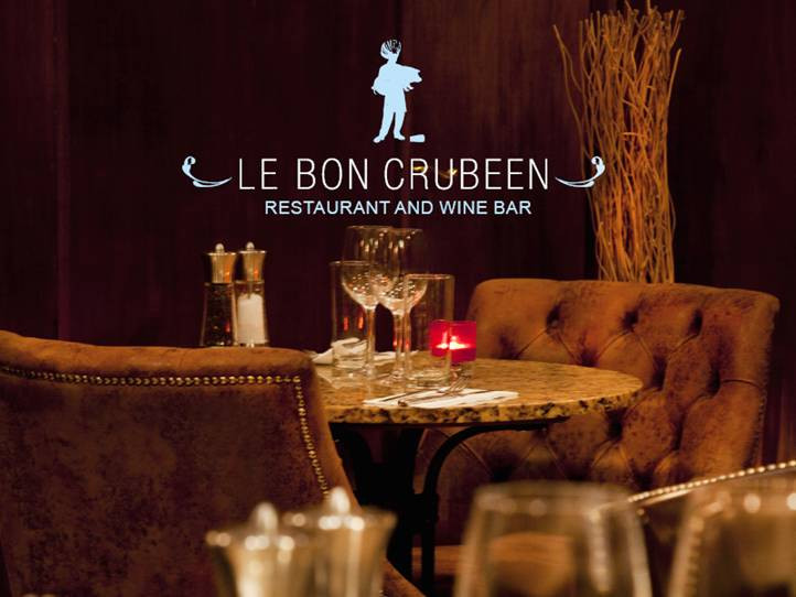 3 course dinner with wine at Le Bon Crubeen