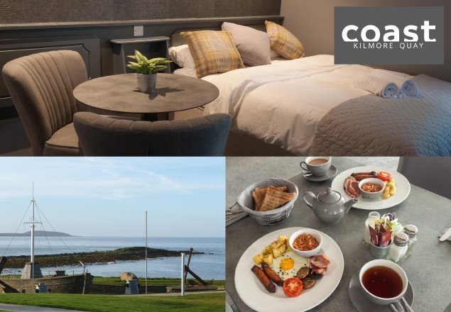 1 Night B&B with dinner in The Coast Hotel