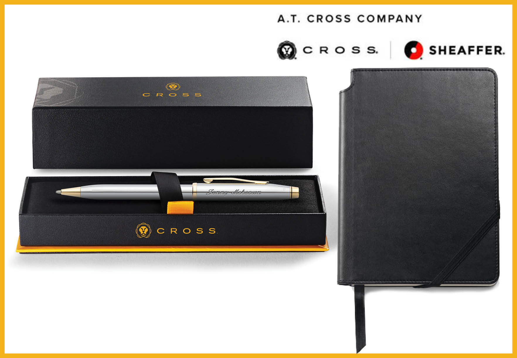 Cross pen and journal combination set