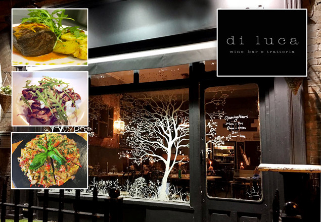3 courses with wine for 2 at Di Luca, D2