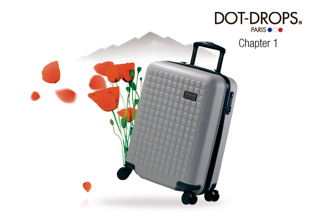 Carry-on suitcase from DOT-DROPS Paris