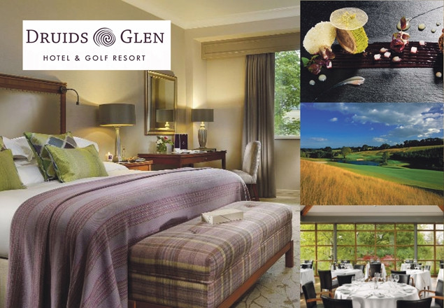 Druid's Glen Resort 1 night stay €165