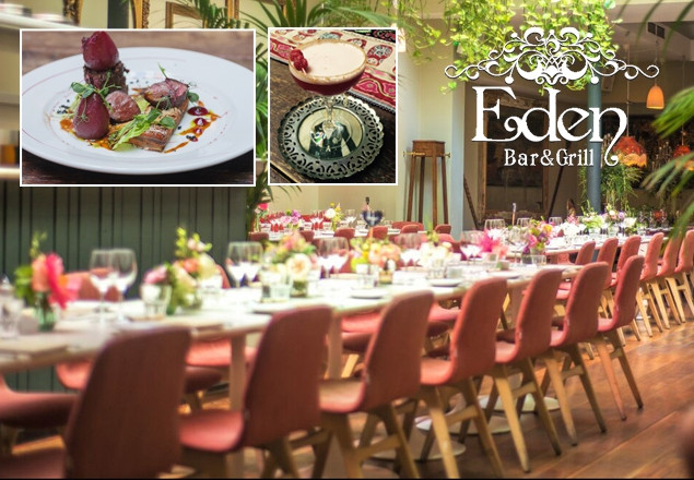 3 course dinner with wine at Eden