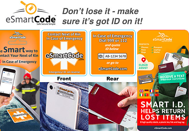 Smart ID Travel Packs from eSmartcode