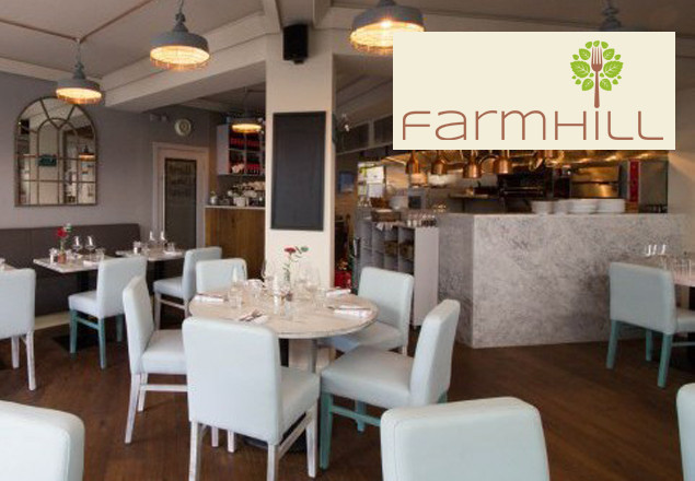 Farmhill dinner for 2 with wine €59