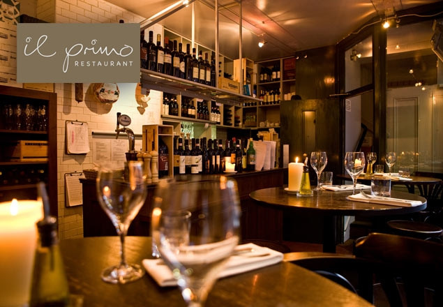 3 course dinner with wine at Il Primo