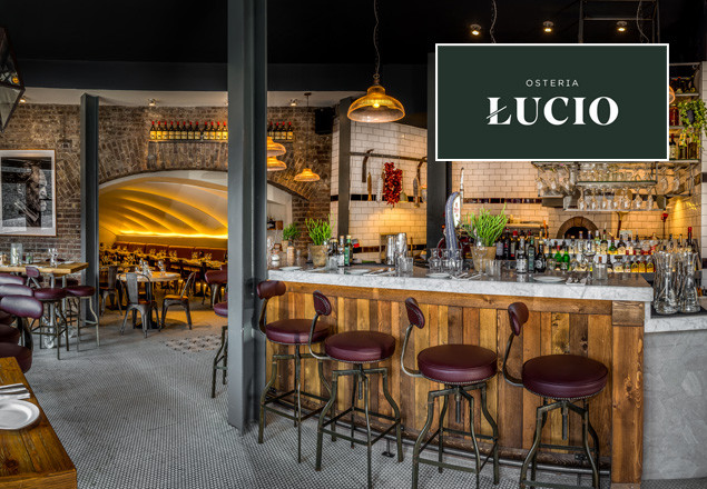4 course dinner with wine at Osteria Lucio