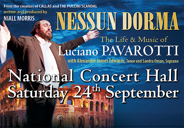Life & Music of Pavarotti, NCH 24th Sept