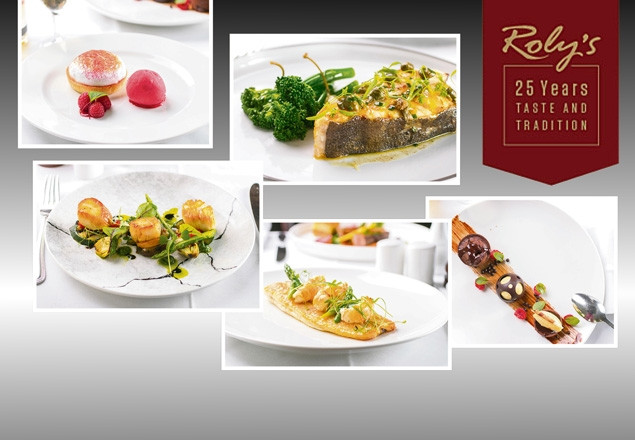 Three course dinner for two at Roly's Bistro
