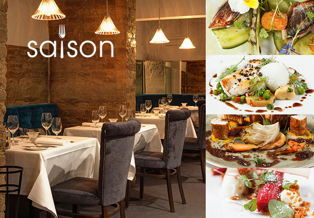 3 course dinner with wine at Saison Restaurant