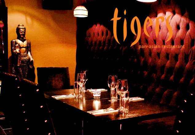 3 course dinner with wine at Tigers Restaurant